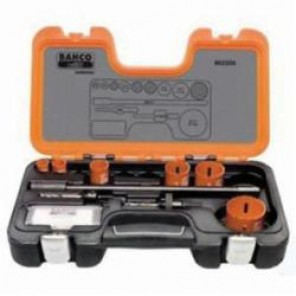 Bahco® 862209 Professional Hole Saw Set, 9 Pieces, For Use With 9/16 to 13/16 in and 1-1/4 to 6 in Hole Saws