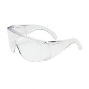 Bouton® 250-99-0900 Dual Lens Protective Glasses, Universal, Full Framed Clear Frame, Anti-Scratch Clear Lens