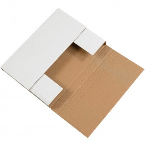 Box Partners M2BK Easy-Fold Mailers, White, 12 1/8 x 9 1/8 x 2""