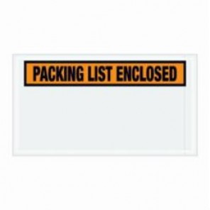 "4-1/2 x 5-1/2""  Orange ""Packing List Enclosed"" Envelopes"