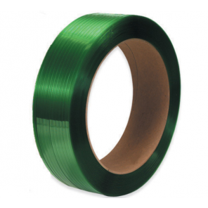 "PS5225G 1/2"" X 5800' - 16 x 6"" Core Green Polyester Strapping - Smooth"