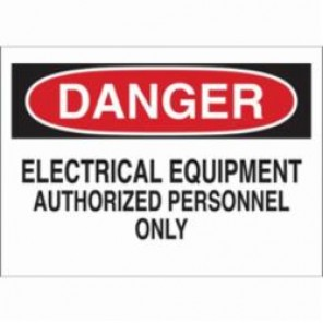 Brady® 87754 Rectangle Electrical Hazard Sign, 3-1/2 in H x 5 in W, Black/Red on White, B-302 Polyester