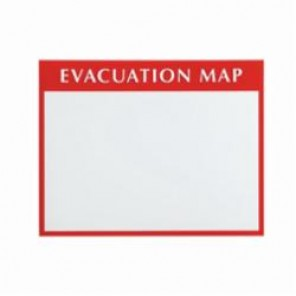 Brady® 102849 Evacuation Plan Insert Holder, Red/White/Clear