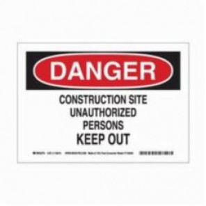 Brady® 116010 Eco-Friendly Rectangle Danger Sign, 7 in H x 10 in W, Black/Red on White, Surface Mount, B-586 Paper