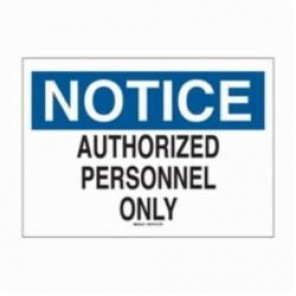 Brady® 116018 Eco-Friendly Rectangle Notice Sign, 7 in H x 10 in W, Black/Blue on White, Surface Mount, B-586 Paper