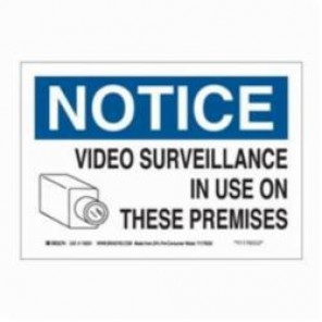 Brady® 116031 Eco-Friendly Rectangle Notice Sign, 7 in H x 10 in W, Black/Blue on White, Surface Mount, B-586 Paper