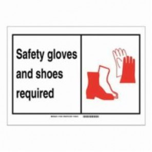 Brady® 119539 Fire Safety Sign, 5 in H x 7 in W, Black/Red on White, Self-Adhesive Mount, B-946 Vinyl