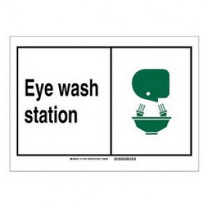 Brady® 119992 Fire Safety Sign, 5 in H x 7 in W, Black/Green on White, Self-Adhesive Mount, B-946 Vinyl