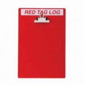Brady® 122050 Rectangle 5S Red Tag Station, 14 in H x 9-1/2 in W, Acrylic, White on Red
