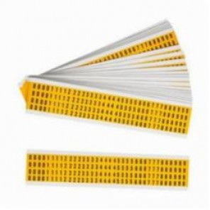 Brady® 1500-# KIT 15 Series Consecutive Permanent UV Resistance Number Label Kit, 1/4 in 0 to 9 Character, 3/8 in H x 1/4 in W, Black on Yellow