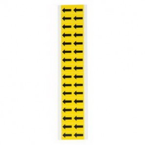 "Brady® 1520-ARO Standard Symbol Label, 5/8 in ARROW"" Character, 3/4 in H x 9/16 in W, Black on Yellow"""