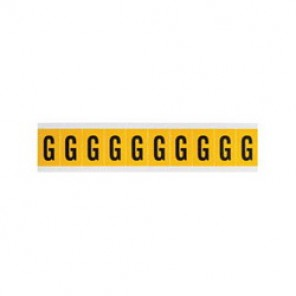 Brady® 1500-G 15 Series Standard Letter Label, 1/4 in G Character, 3/8 in H x 1/4 in W, Black on Yellow