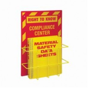 Brady® 2010 Right-To-Know Compliance Center, RIGHT TO KNOW COMPLIANCE CENTER, English, Red/Yellow, 20 in H x 14 in W