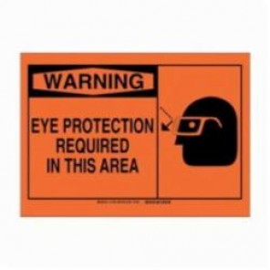 Brady® 21790 Warning Sign, 7 in H x 10 in W, Black on Orange, B-401 Plastic