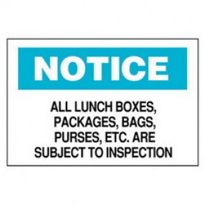 Brady® 84122 Laminated Admittance Sign, 10 in H x 14 in W, Black/Blue on White, Surface Mount, B-302 Polyester