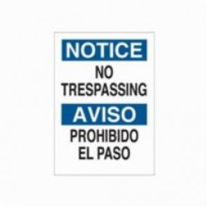 Brady® 39514 Rectangle Notice Sign, 20 in H x 14 in W, Black/Blue on White, Surface Mount, B-120 Premium Fiberglass