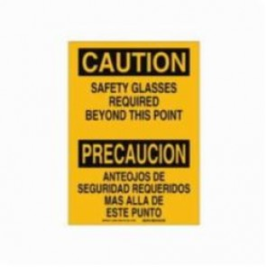 Brady® 38688 Rectangle Caution Sign, 10 in H x 14 in W, Black on Yellow, Surface Mount, B-401 Plastic