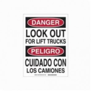 Brady® 39005 Rectangle Danger Sign, Black/Red on White