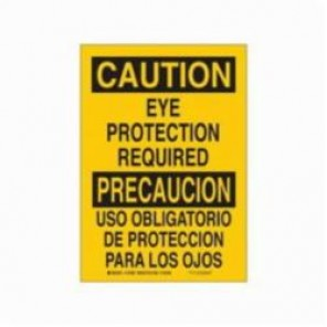Brady® 39964 Rectangle Safety Sign, 20 in H x 14 in W, Black on Yellow, Surface Mount, B-120 Premium Fiberglass