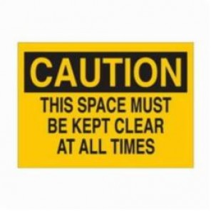 Brady® 22772 Rectangle Maintenance Sign, 7 in H x 10 in W, Black on Yellow, Surface Mount, B-401 Plastic