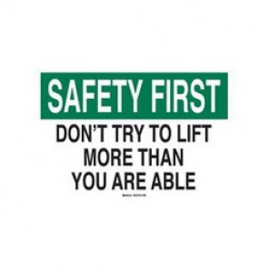 Brady® 42888 Laminated Safety Slogan Sign, 7 in H x 10 in W, Green/Black on White, Surface Mount, B-555 Aluminum