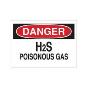 Brady® 43016 Chemical & Hazardous Material Sign, 10 in H x 14 in W, Black/Red on White, Surface Mount, B-555 Aluminum