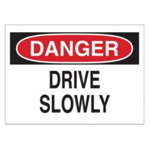 Brady® 43383 Traffic Sign, 10 in H x 14 in W, Black/Red on White, Surface Mount, B-555 Aluminum