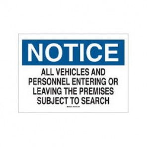 Brady® 43396 Industrial Traffic Sign, 10 in H x 14 in W, Black/Blue on White, Surface Mount, B-555 Aluminum