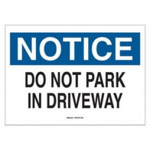 Brady® 43403 Traffic Sign, 10 in H x 14 in W, Black/Blue on White, Surface Mount, B-555 Aluminum