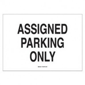 Brady® 43421 Traffic Sign, 10 in H x 14 in W, Black on White, Surface Mount, B-555 Aluminum