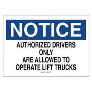 Brady® 43464 Traffic Sign, 10 in H x 14 in W, Black/Blue on White, Surface Mount, B-555 Aluminum