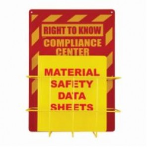 Brady® RK018A Right-To-Know Compliance Center, RIGHT TO KNOW COMPLIANCE CENTER, English, Red/Yellow, 20 in H x 14 in W