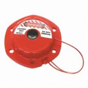 Brady® 51442 Mini Retractable Cable Lockout, DANGER LOCKED OUT DO NOT REMOVE, 6 ft L Nylon Coated, 6 Padlocks, Red