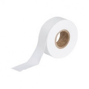 Brady® 58342 Non-Adhesive Flagging Tape, 300 ft Roll L x 1-3/16 in W, White