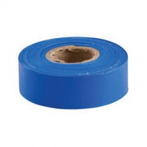 Brady® 58345 Non-Adhesive Flagging Tape, 300 ft Roll L x 1-3/16 in W, Blue