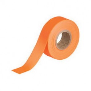 Brady® 58352 Non-Adhesive Flagging Tape, 150 ft Roll L x 1-3/16 in W, Fluorescent Orange