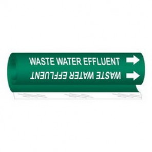 Brady® 5857-I High Performance Pipe Marker, 24 in W, White on Green, Wrap Around, 1