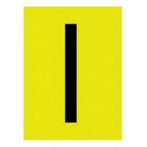 Brady® 1500-I 15 Series Standard Letter Label, 1/4 in I Character, 3/8 in H x 1/4 in W, Black on Yellow