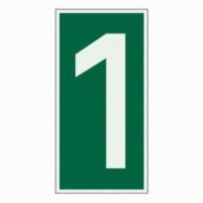 Brady® 59299 Rectangle Evacuation Sign, 6 in H x 3 in W, Light Green on Green, Self-Adhesive Mount, B-324 Glow-In-The-Dark Polyester