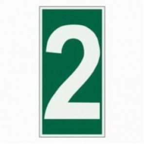 Brady® 59301 Rectangle Evacuation Sign, 6 in H x 3 in W, Light Green on Green, Self-Adhesive Mount, B-324 Glow-In-The-Dark Polyester