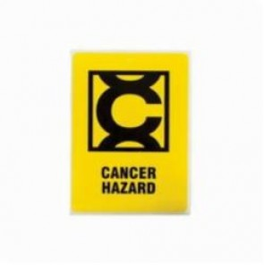 Brady® 596-26 Danger Sign, 4 in H x 2-7/8 in W, Black on Yellow, Self-Adhesive/Surface Mount, Vinyl