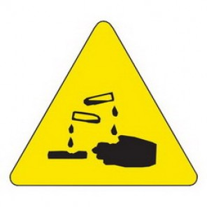 Brady® 60184 Square Warning Label, 1/2 in H x 1/2 in W, B-946 Vinyl, Black on Yellow