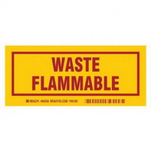 Brady® 60258 Container Label, 3 in H x 7 in W, B-302 Polyester, Red on Yellow