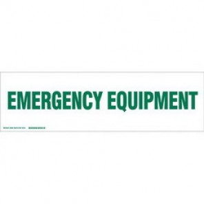 Brady® 60268 Cabinet Label, 7 in H x 24 in W, B-302 Polyester, Green on White