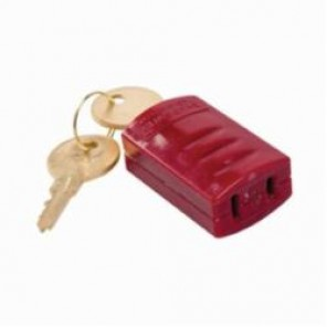 Brady® 65673 Stopower® Electrical Plug Lockout, 1-3/4 in H x 1-1/16 in W x 3/4 in D, Red