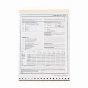 Brady® 65937 Confined Space Entry Permit, English, 11 in L x 8-1/2 in W, Black on White
