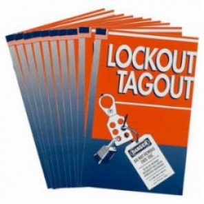Brady® 66219 Lockout/Tagout Handbook, English, 16 Pages, 1/2 in H x 5-3/8 in W