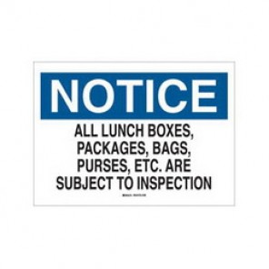 Brady® 69382 Admittance Sign, 10 in H x 14 in W, Black/Blue on White, Surface Mount, B-120 Premium Fiberglass