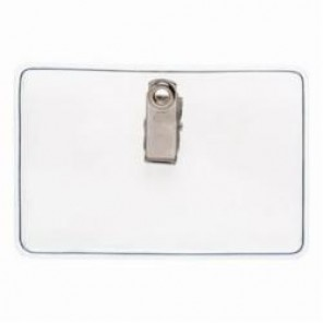 Brady® 69724 Clip-On Horizontal Badge Holder, Vinyl, Clear