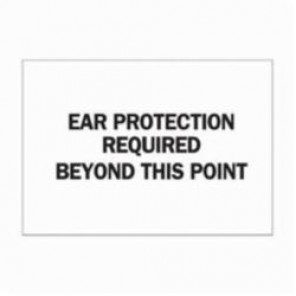 Brady® 73410 Rectangle Ear Protection Sign, 10 in H x 14 in W, Black on White, Surface Mount, B-120 Premium Fiberglass